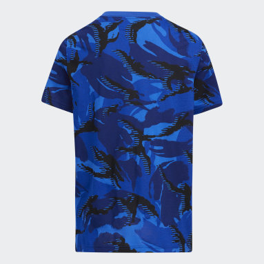 Youth Training Blue Action Camo Tee
