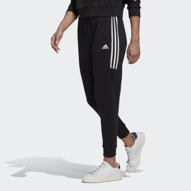 Women Sport Inspired Black adidas Essentials Cut 3-Stripes Pants