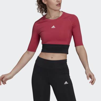 Women's Training Pink Fitted AEROREADY Sport Crop Top