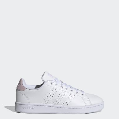 Women Walking White Advantage Shoes