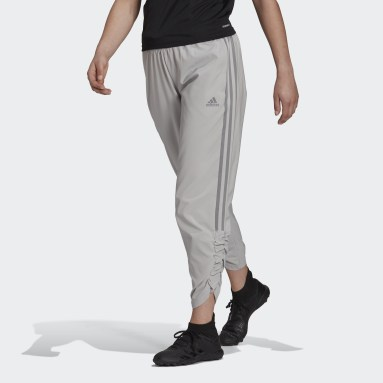 Women Football Grey Tiro Woven Ruched Tracksuit Bottoms
