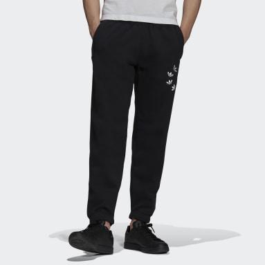 Men Originals Black Adicolor Shattered Trefoil Sweat Pants