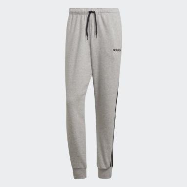 Men Sportswear Grey Essentials 3-Stripes Tapered Cuffed Joggers