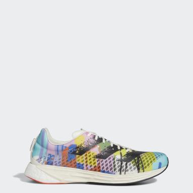 Men's Running White Adizero Pro Pride Shoes