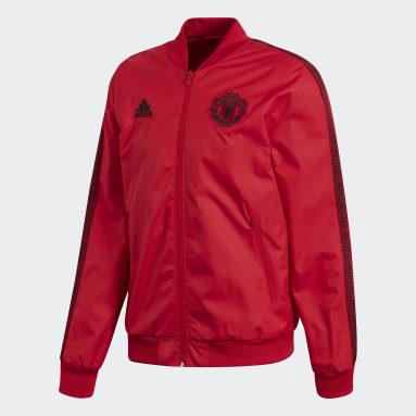 Mænd Fodbold Rød Manchester United Anthem jakke