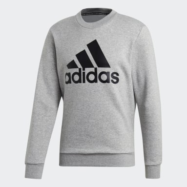 Men Essentials Grey Must Haves Badge of Sport Sweatshirt