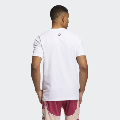 Heren Basketbal Wit Harden Avatar Pocket T-shirt