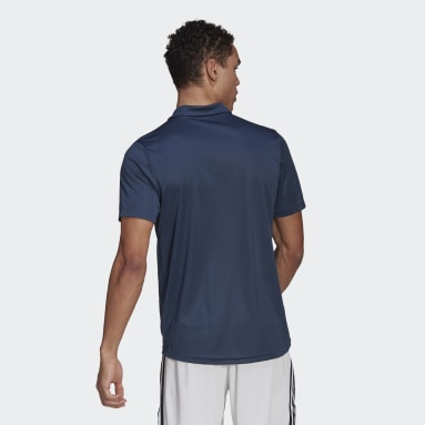 Men Training Blue AEROREADY Designed To Move Sport Polo Shirt