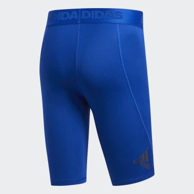 Mallas cortas Alphaskin Sport Azul Hombre Yoga