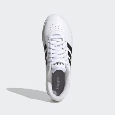 Women Walking White Court Bold Shoes