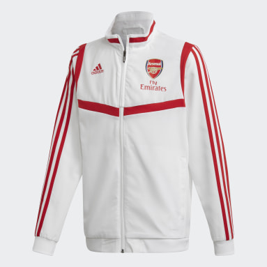Youth 8-16 Years Football White Arsenal Presentation Track Top
