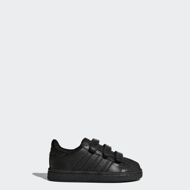 Barn Originals Svart Superstar Shoes