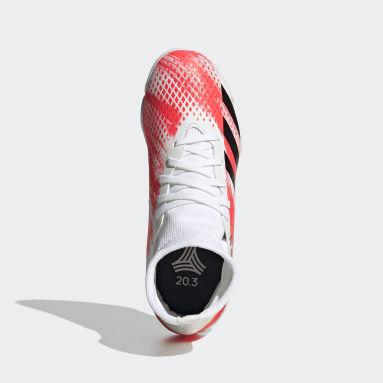 Boys Football White Predator 20.3 Indoor Boots