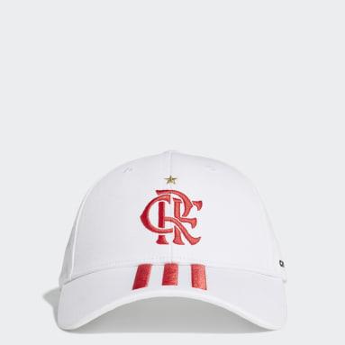 Boné Baseballl CR Flamengo 2 (UNISSEX) Branco Futebol