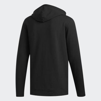 Sweat-shirt à capuche léger noir Hommes Golf