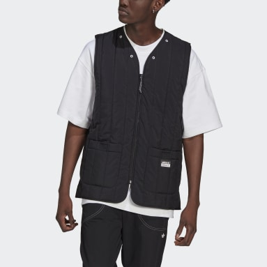 Men Originals Black R.Y.V. Light Padded Utility Vest