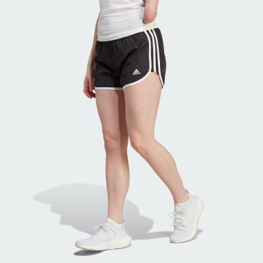 Dames Hardlopen Zwart Marathon 20 Short