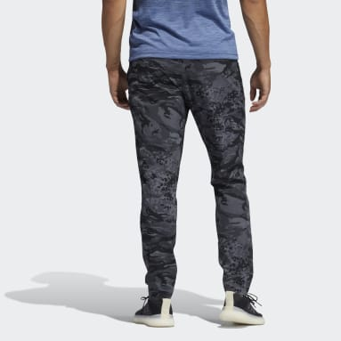 Pantalon Training 3-Stripes Camo Noir Hommes Running