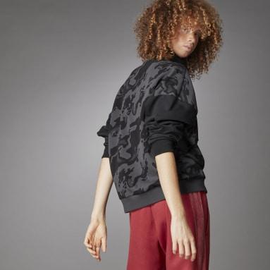 Sweat-shirt 1/4 Zip Allover Print Gris Hommes Sportswear