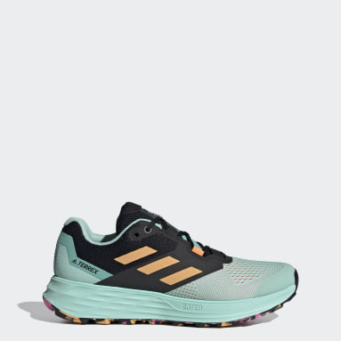 Women TERREX Turquoise Terrex Two Flow Trail Running Shoes