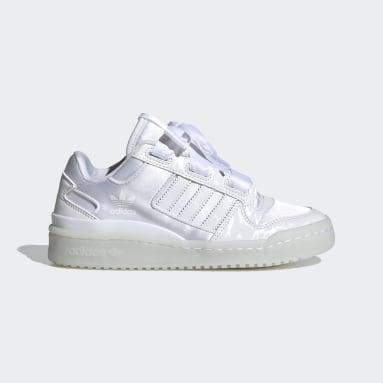 เด็ก Originals สีขาว รองเท้า Forum Satin Low