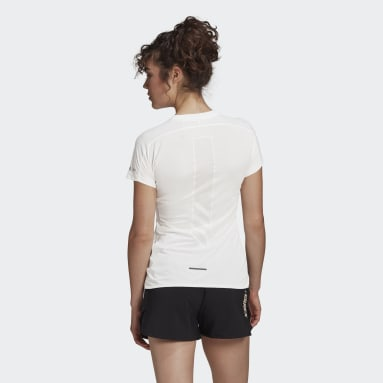 Camiseta Terrex Parley Agravic Trail Running All-Around Blanco Mujer TERREX