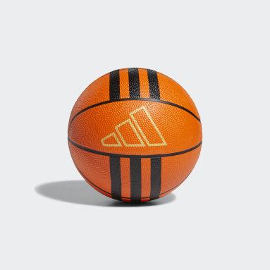 Basketball Orange 3-Stripes Rubber Mini Basketball