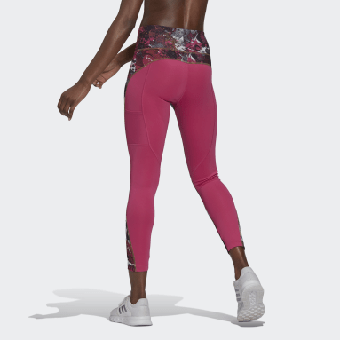 Women's Essentials Pink adidas x Zoe Saldana AEROREADY 7/8 Tights