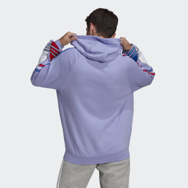 Sweat-shirt à capuche Adicolor Violet Hommes Originals