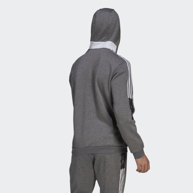 Men's Lifestyle Grey Tiro 21 Sweat Hoodie