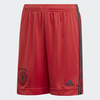 Kids Football Red Germany Home Goalkeeper Shorts