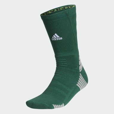 Training Green Alphaskin Maximum Cushioned Crew Socks