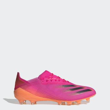 Futbal ružová Kopačky X Ghosted.1 Artificial Grass