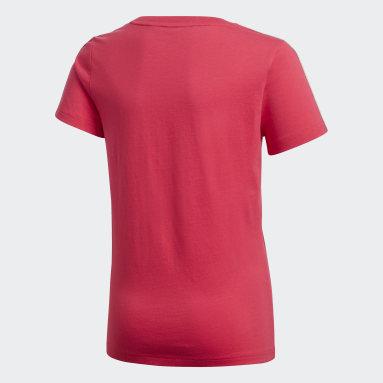Dívky Cvičení A Trénink růžová Tričko Gym