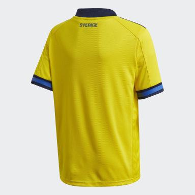 Camiseta primera equipación Suecia Amarillo Niño Fútbol