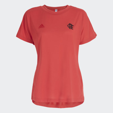 Camiseta Travel CR Flamengo Vermelho Mulher Futebol