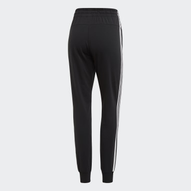 Women Lifestyle Black Essentials 3-Stripes Pants