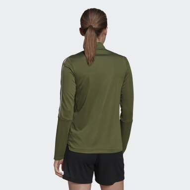 Women Football Green Tiro Transparent Track Top