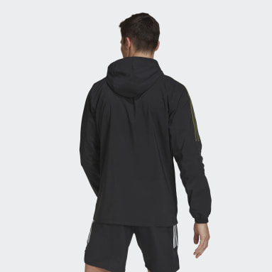 Men Football Black Tiro Graphic Windbreaker