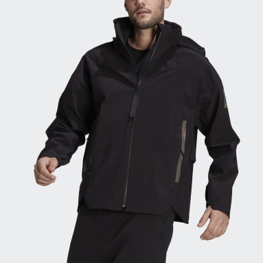 Men TERREX Black MYSHELTER Rain Jacket