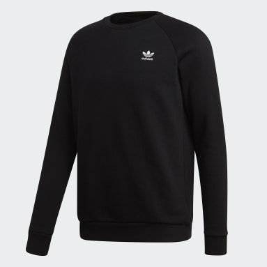 Herr Originals Svart LOUNGEWEAR Trefoil Essentials Crewneck Sweatshirt