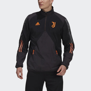 Heren Voetbal Zwart Juventus Travel Fleece Jack