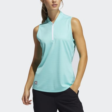 Polo Equipment Primegreen Sleeveless Golf Verde Donna Golf