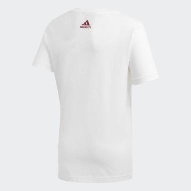 Kinder Fußball Spanien Graphic T-Shirt Weiß