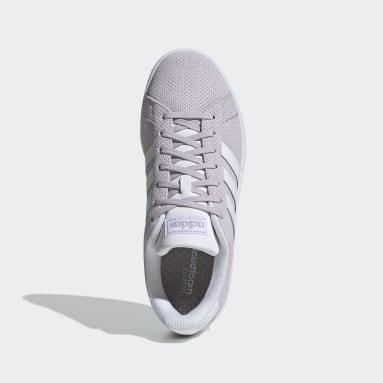 Women Sport Inspired Purple Grand Court Shoes