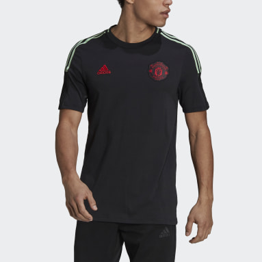 Men Football Black Manchester United Tee