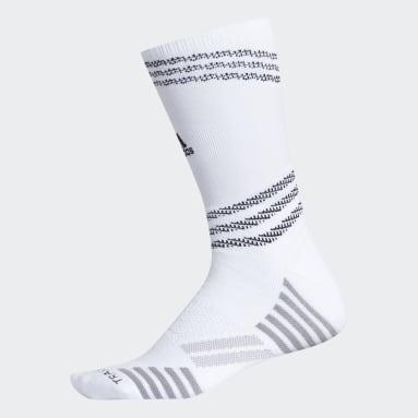 Men's Running White Speed Mesh Team Crew Socks