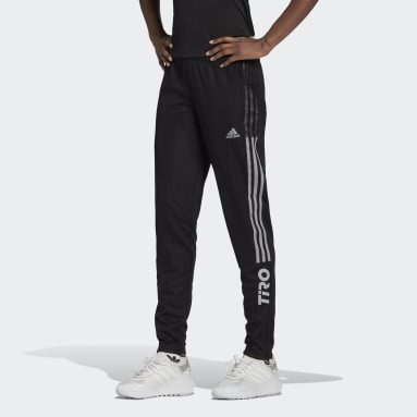 Women's Soccer Black Tiro Reflective Track Pants