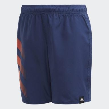 Shorts de Natación 3 Franjas Bold Azul Niño Natación