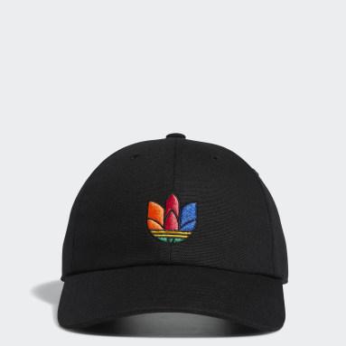 Children Originals Black 3D Trefoil Strap-Back Hat
